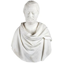 Antique Carrara Marble Bust