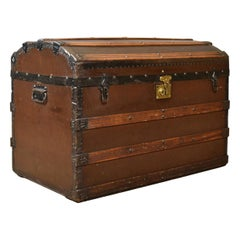 Antique Carriage Chest, Victorian, Dome Topped Trunk, 19th Century, circa 1890