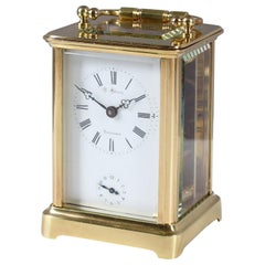 Antique Carriage, Travel Alarm Clock, Signed Möller Schleswig, circa 1900