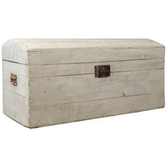 Antique Carriage Trunk, Painted, Pine, Victorian, Dome Topped Chest, circa 1890