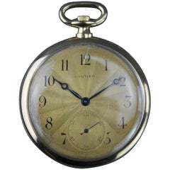 Antique Cartier 18 Karat Solid Yellow Gold Manual Winding Pocket Watch