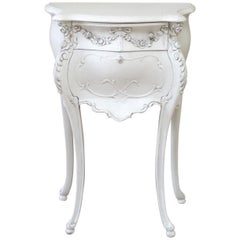 Antique Carved and Painted Nightstand by Louis Bulloni