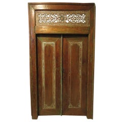 Antique Carved Double Doors or Paneling Beautifully Patinated Wood 19th Century
