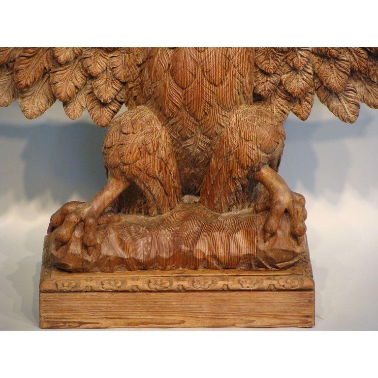 Antique Carved Eagle Console Table For Sale At 1stdibs
