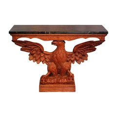 Antique Carved Eagle Console Table