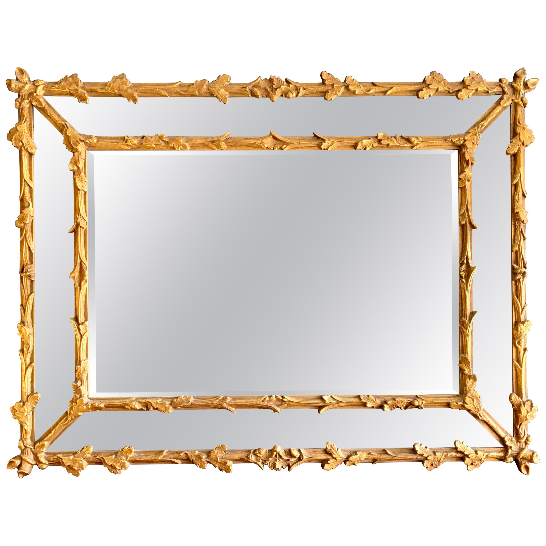 Antique Carved Florentine Gold Giltwood Mirror