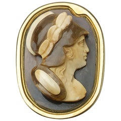 Antique Carved Hardstone Cameo Ring