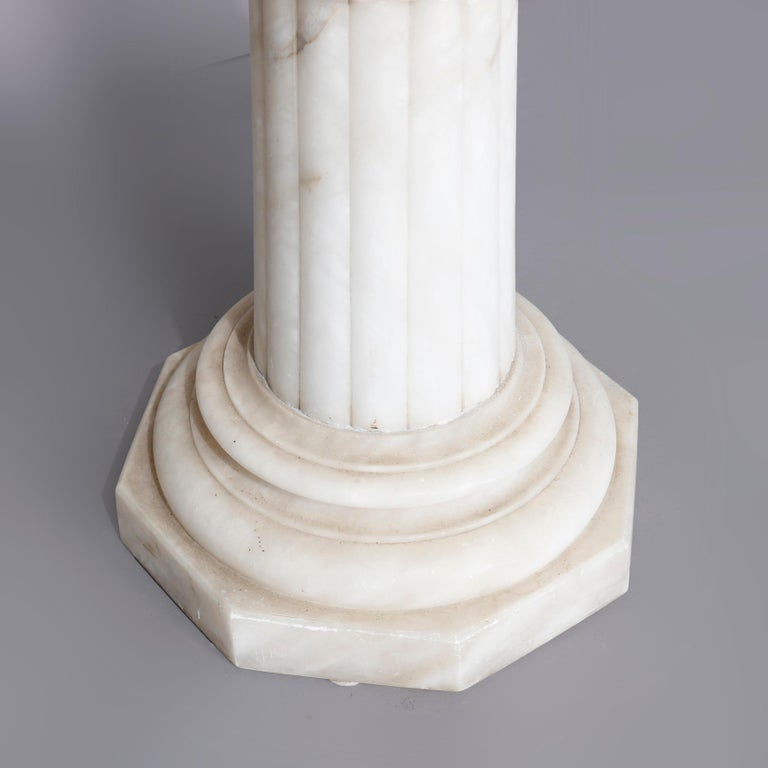 Antique Carved Italian Marble Neo Classical Sculpture Display Stand, circa 1900 For Sale 1