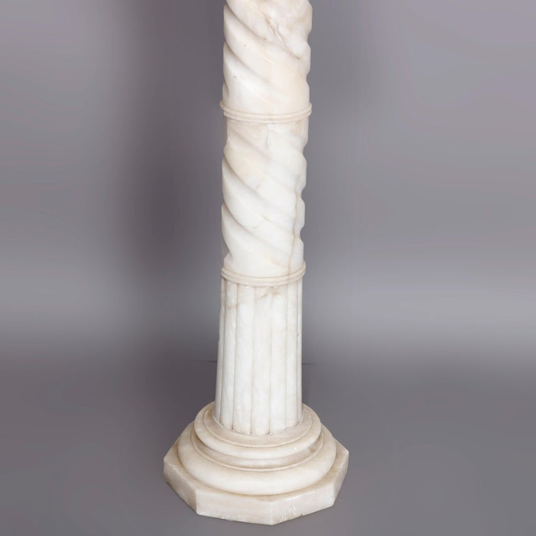 Antique Carved Italian Marble Neo Classical Sculpture Display Stand, circa 1900 For Sale 2