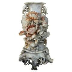 Antique Carved Jade Stone Vase