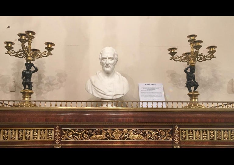 Hand-Carved Antique Carved Marble Bust of the Duke of Wellington by Robert Physick For Sale