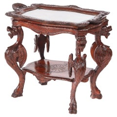 Antique Carved Oak Italian Centre Table