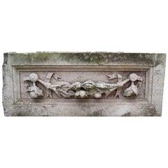 Antique Carved Portland Stone Plaque / Frieze