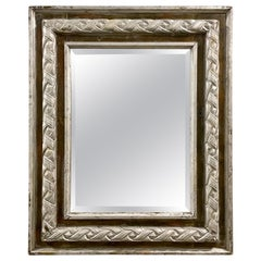 Antique Carved & Silver Gilded Mirror