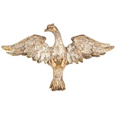 Antique Carved Silver Gilt Eagle