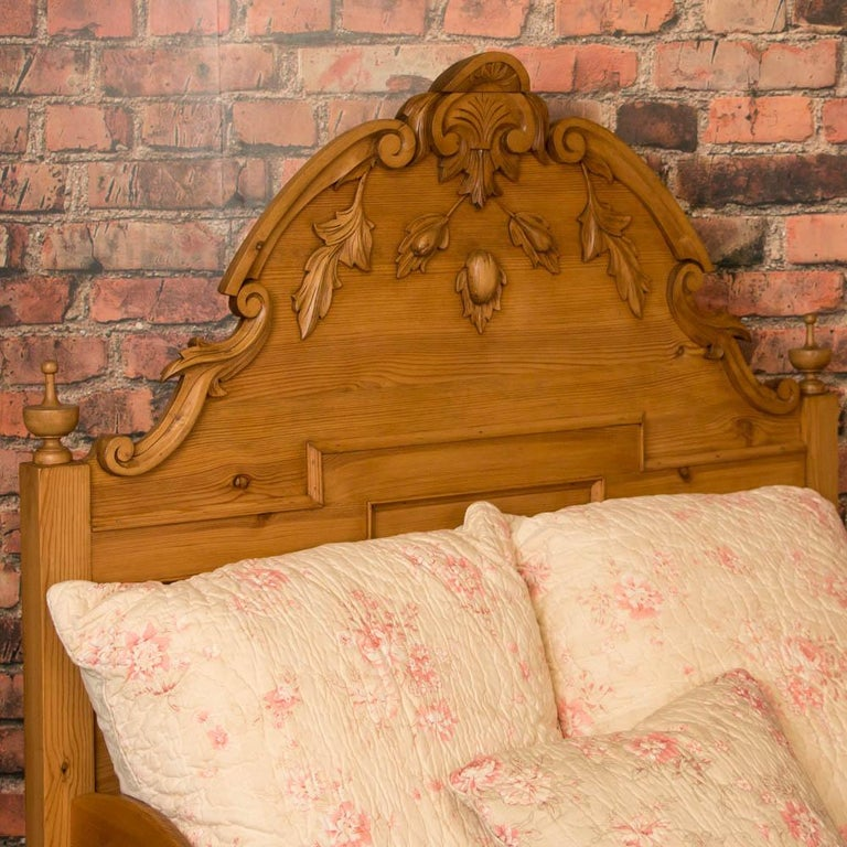 Antique Carved Swedish Twin Pine Bed At 1stdibs