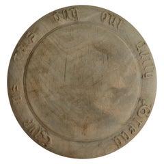 Antique Carved Sycamore Bread Board, English, 19th Century