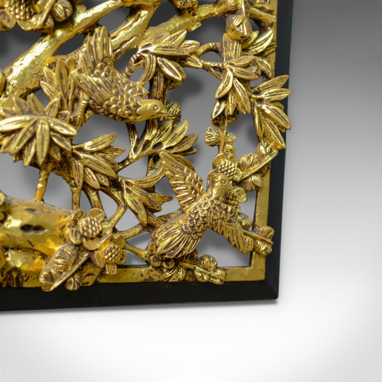 Hand-Carved Antique Carved Wall Panel, Chinese, Giltwood, Decorative, circa 1900 For Sale
