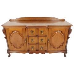 Antique Carved Walnut Sideboard, Buffet, or Chiffonier, Scotland 1920, B1809