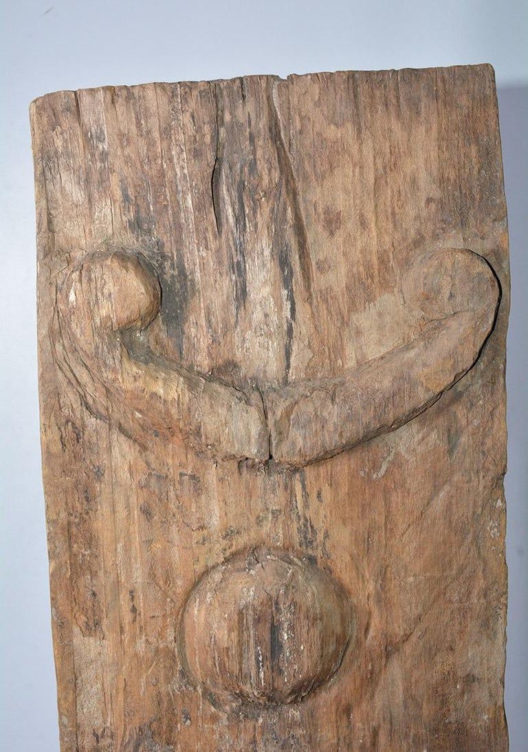 Asian Antique Carved Wood Sculpture For Sale