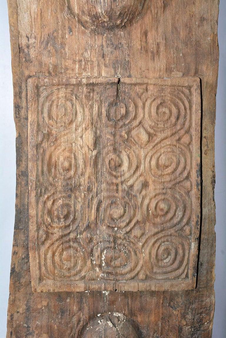 Hand-Carved Antique Carved Wood Sculpture For Sale