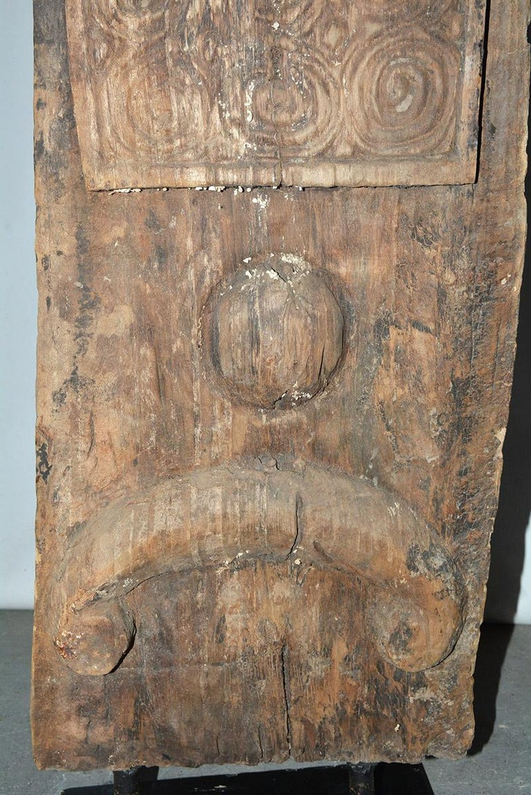 Antique Carved Wood Sculpture In Good Condition For Sale In Great Barrington, MA