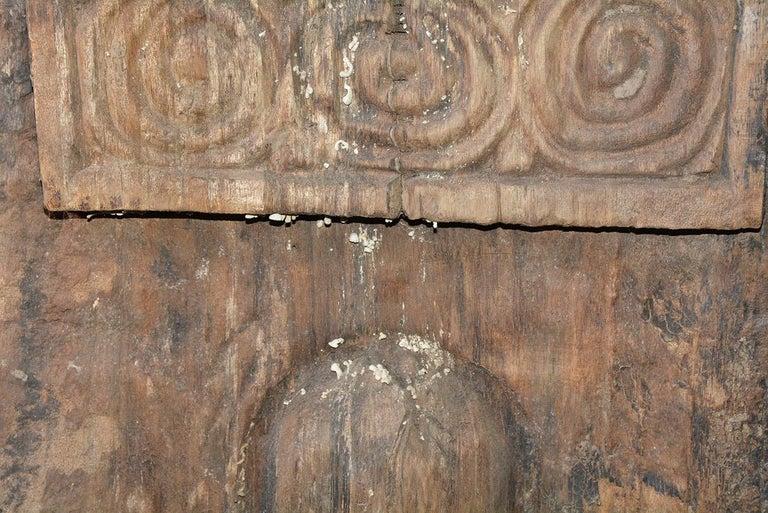 Antique Carved Wood Sculpture For Sale 1