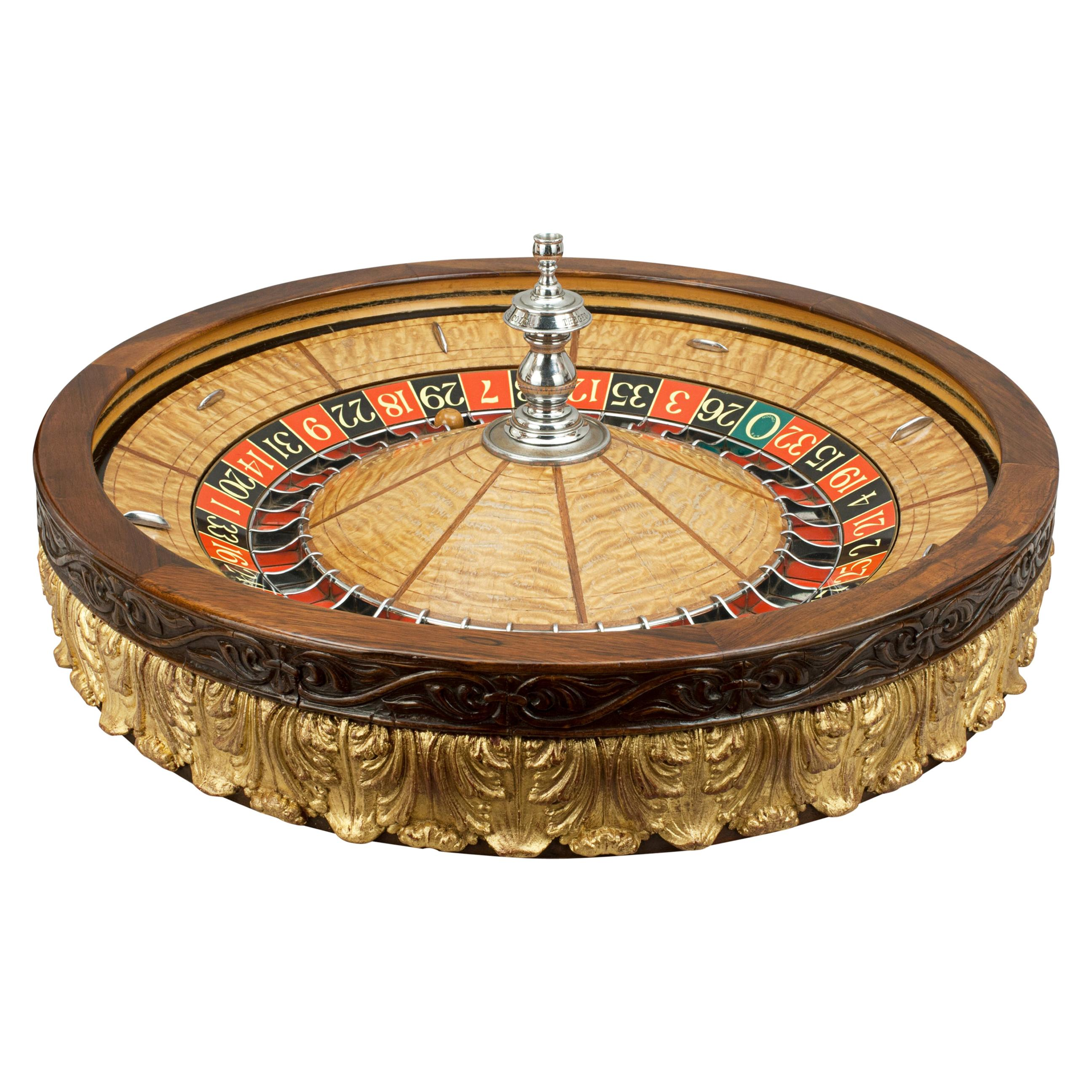 Antique Casino Roulette Wheel, George Mason Co. Denver Colorado