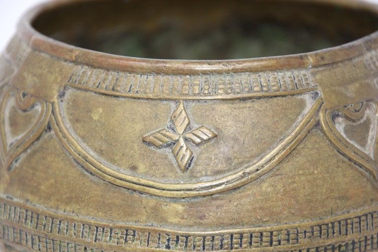 Indian Antique Cast brass Measuring Bowl from Northern India For Sale
