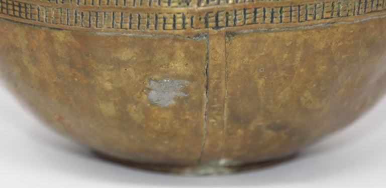 Antique Cast brass Measuring Bowl from Northern India For Sale 2