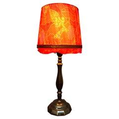 Antique Cast Bronze Art Deco Table Lamp