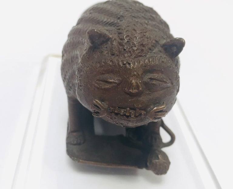 Antique Cast Bronze of a Mythical Lion Beast For Sale 7