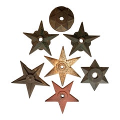Antique Cast Iron Architectural Building Star Shaped Support Collection '7'