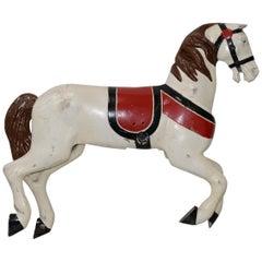 Antique Cast Iron Carousel Horse