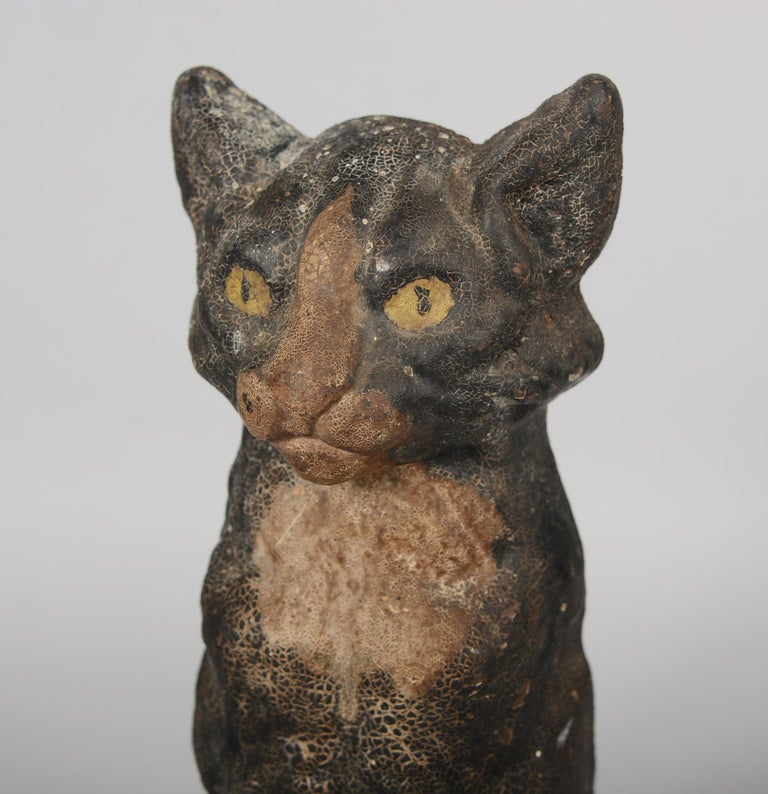 Antique Cast Iron Cat Door Stop by National Foundry 2