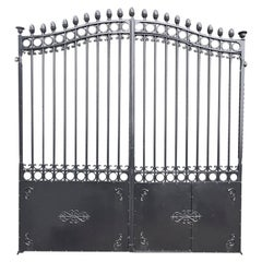 Antique Cast Iron Double-Entry Gate, 19th Century