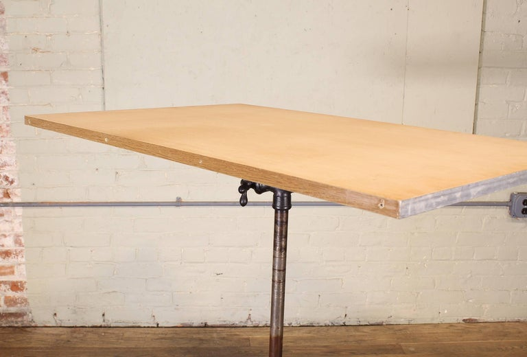 Antique Cast Iron Drafting Table by A. Hoffman Co. 1910 Rochester, NY For Sale 4