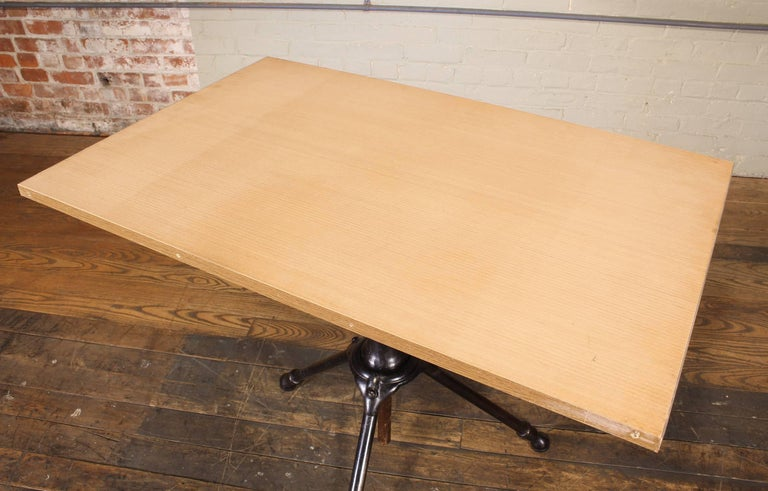 Antique Cast Iron Drafting Table by A. Hoffman Co. 1910 Rochester, NY For Sale 5