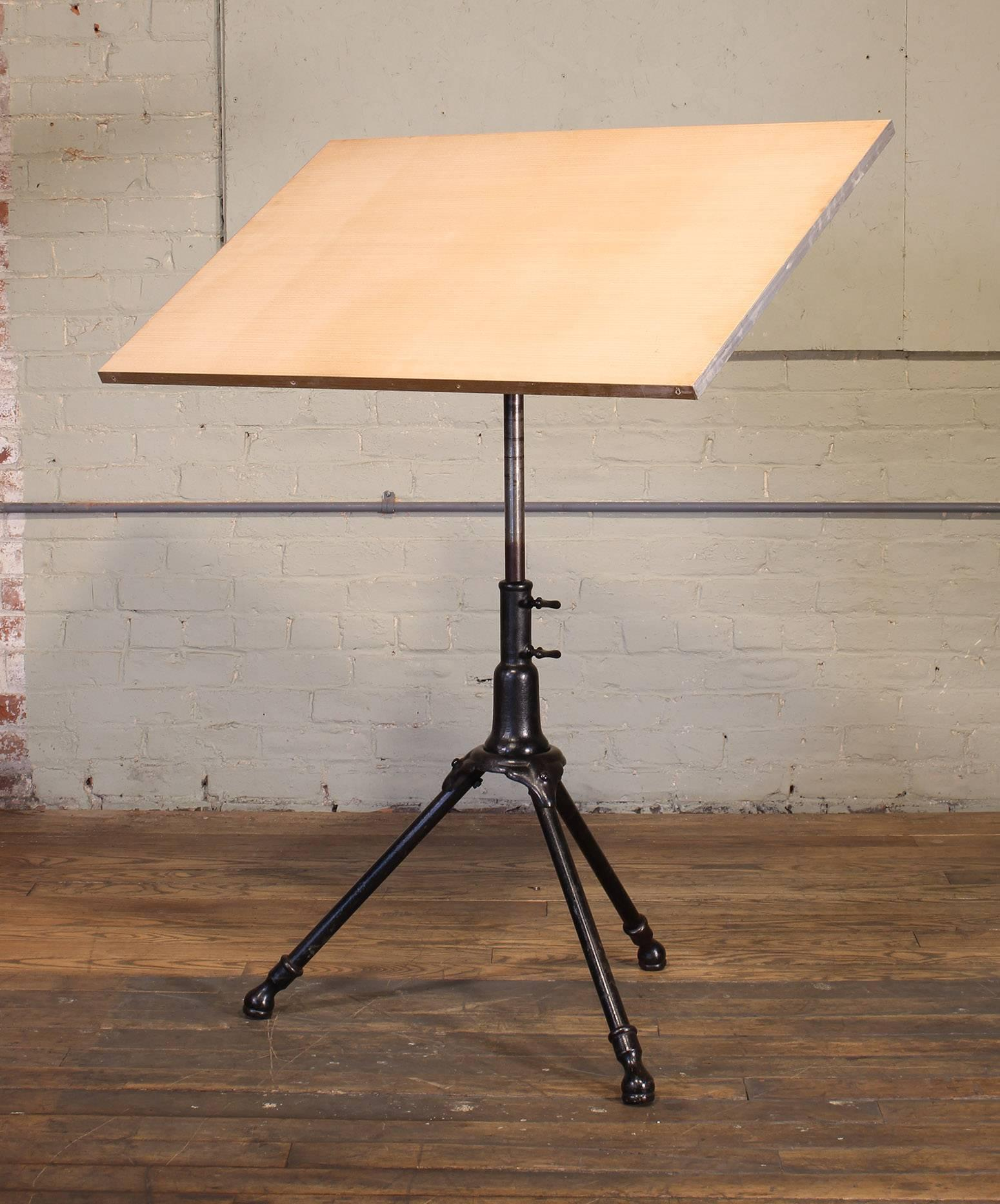 Antique Cast Iron Drafting Table by A. Hoffman Co. 1910 Rochester, NY at  1stdibs - Antique Cast Iron Drafting Table By A. Hoffman Co. 1910 Rochester