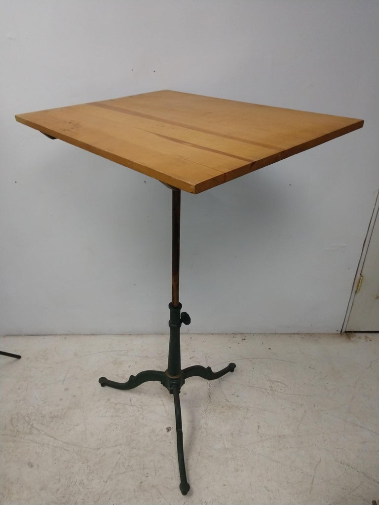 Antique Cast Iron Drafting Table Late 19th Century Anderson, Brooklyn NY For Sale 3