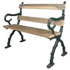 Antique Cast Iron English Garden Bench
