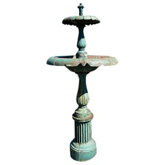 Antique Cast Iron Fountain 19th Century