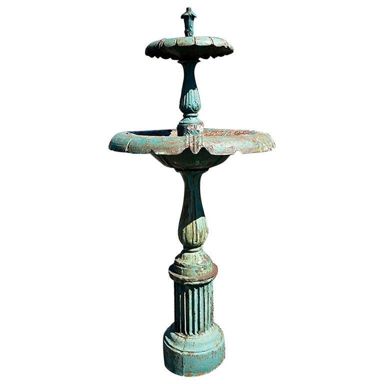 Antique Cast Iron Fountain 19th Century For Sale