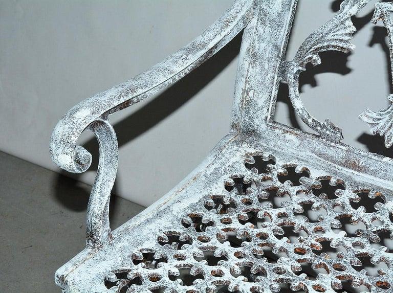 Antique Cast Iron Gothic Garden Chair For Sale 5