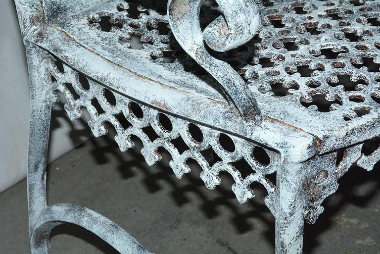 Antique Cast Iron Gothic Garden Chair For Sale 6