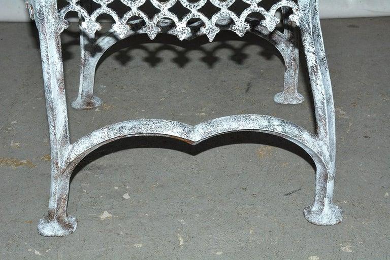 Antique Cast Iron Gothic Garden Chair For Sale 7