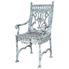 Antique Cast Iron Gothic Garden Chair