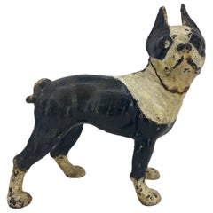 Antique Cast Iron Hubley Boston Terrier Doorstop