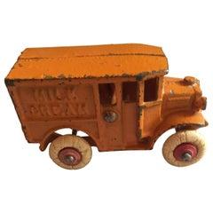 Antique Cast Iron Milk Wagon, circa 1920s