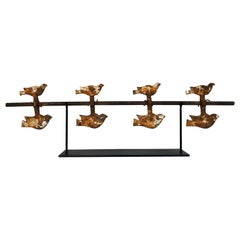 Antique Cast Iron Spinning Shooting Gallery Spinning Birds Target, circa 1930s